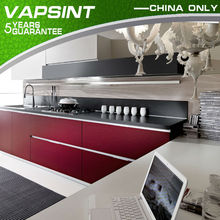 Custom red lacquer gloss kitchen cabinet paint colors