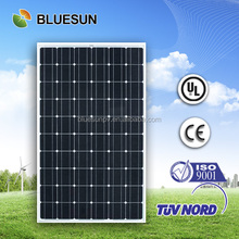Bluesun high quality mono 250w solar water heating panel price