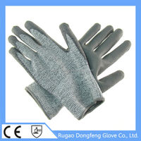 PU Level 5 Puncture Cut Resistant Working Gloves From China