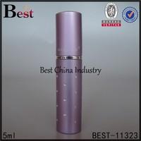 5ml wholesale purple travel perfume atomizers, silk printing service, OEM