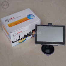 Hot mini 5 inch car gps navigation box with very competitive $29 per piece with free map