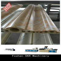 Foshan SKR machinery New double screw artificial stone production line with hole