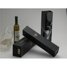 embossing hot foil red wine paper packaging box