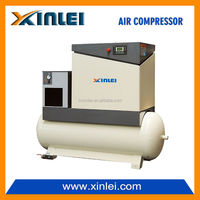 variable frequency 7.5HP screw air compressor 5.5kw XLPM7.5ATD-t1104 industrial screw air compressor with air dryer and tank