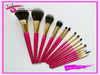 15pcs professional pink makeup brush kit free sample custom logo