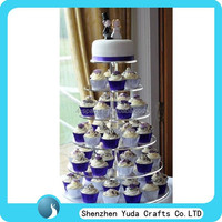 Customized unique acrylic wedding cake stands luxury 6 tier cake stand