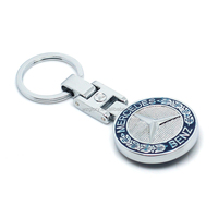 Promotional Fashion Benz High Quality Metal Key Chain With Box For Souvenir