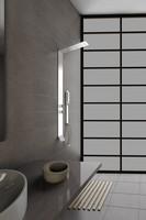 brush stainless steel shower panel