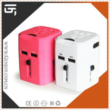 Alibaba Popular Business gifts Item, Customized Travel adapter, Multi Adapter with LED light