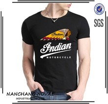 Indian Motorcycle Logo t shirt men's fashion TEE High quality DIY Custom Shirts 100% Cotton t-shirt
