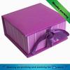 purple elegant folded paper box for gift