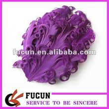 purple curly feather accessories