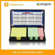 Onzing new printed calendar sticky note in the plastic box