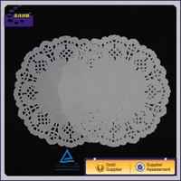 100% Cotton Venice Lace oval round rectangel table mat doily 6.5''x 9.5''