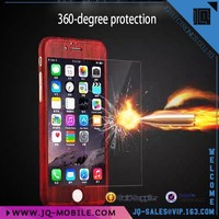 New style phone case ABS+PC Material fullset with temerped glass protective phone case for Apple iphone 6 i6 plus