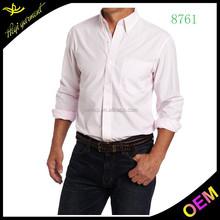 Rosa slim fit camisas dos homens vestem camisas modelos com design ocidental extravagante