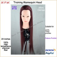 wholesale plastic mannequin salon training heads model with long wig 24inches 60cm for hairdresser training many color available
