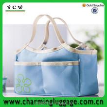 solar bottle polyester cooler bag/aluminium foil tote cooler bag for frozen food