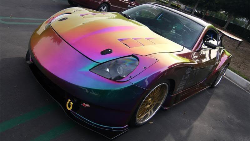 Popular chameleon mica pigments color change paint pearls for Car paint color changing