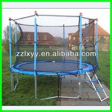 outdoor amusement mini square trampoline with net