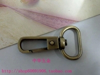 DIY luggage leather handbags bags hardware accessories diameter 2cm dog buckle Qing Gu sweep / silver white / light gold