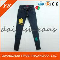 Women skinny wholesale jeans, stocklot denim jeans