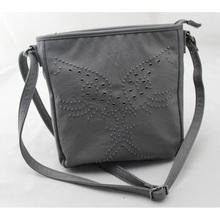 grey PU female new rivet style shoulder bag, Fashion shape woman messenger bag