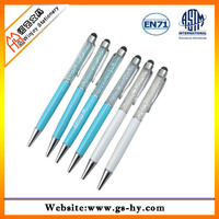 fashion diamond design touch pen ballpen