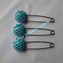 Fancy Blue Colored Fruit Shaped Sewing Safety Pins U150304C