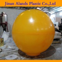 yellow color customized acrylic ball