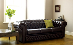 inflatable chesterfield leather sofa for sale HDS1414