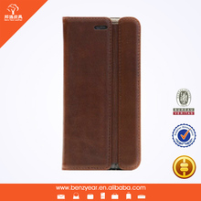 Hot selling genuine leather phone cases for 5.5 inch iphone6 plus mobile phone cover case