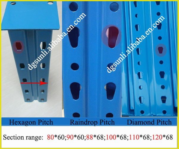 Один Глубокий 75 мм Регулируемый Паллетные стеллажи, Склад