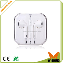 2015 hot sale mobile earphone for iPhone Samsung with retail box