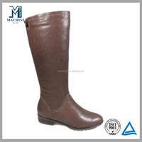 Size 42 43 44 knee high women leather boots large size