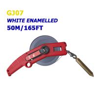 50m/165ft white enamel oil measuring tape