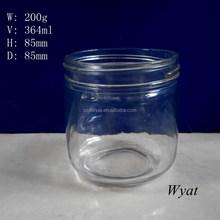 365ml high capacity round glass jam jar on sale SLJc71