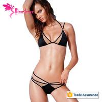 Sale Promotion Sexy Mesh Hollow-out Black Bikini