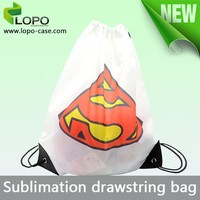 cheap dye sublimation mini drawstring bag
