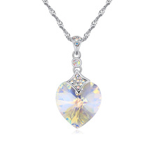 top quality 18K white gold plated ouxi necklace made with Swarovski elements crystal