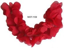 Red fabric motif,bridal neck trim,wedding dress applique