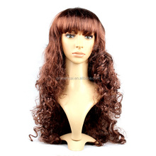 Hot sale Brown long curly synthetic hair coslay wigs for women