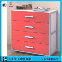 Metal frame wood filing cabinets 4 drawer