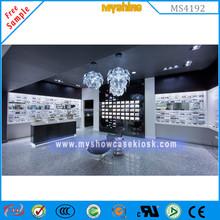 Nice decoration display showcase in optical shop interior design sunglass for sunglass store