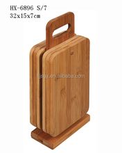 6 pieces bamboo chopping board set, wood cutting boards wholesale bamboo product