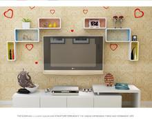 Colorful acrylic cube wall shelf forTV background decoration
