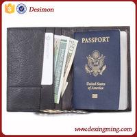 leather visa/ ticket/ checkbook/passport card holder,usa passport cover for travel ,passport holder wallet style
