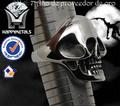 cráneo 316l anillo de acero inoxidable,con diamantes,Calavera Motociclista