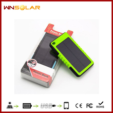 Waterproof Anti- break Dust-proof solar power bank 8000mah solar mobile cell phone charger