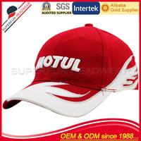 red racing 3d logo sports cap